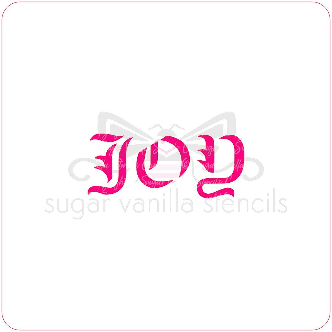Joy Cupcake Stencil