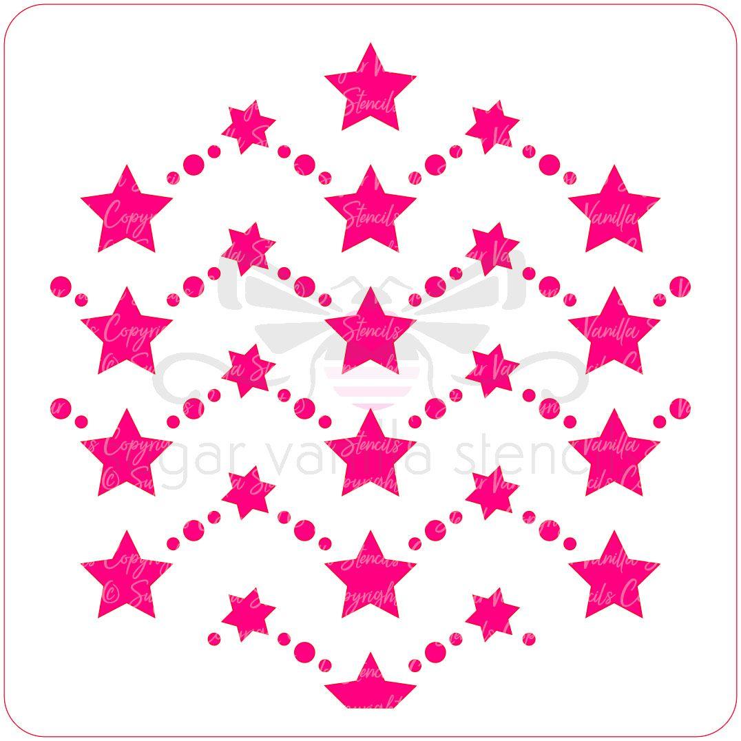 Star Pattern Cupcake Stencil