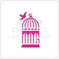 Birdcage Cupcake Stencil