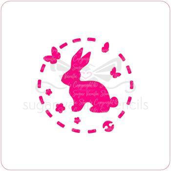Bunny Rabbit Cupcake Stencil