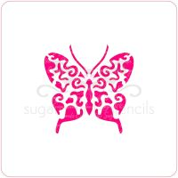 Butterfly Cupcake Stencil