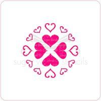 Hearts Cupcake Stencil