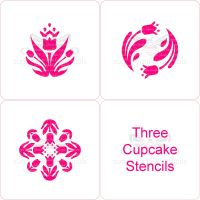 Set of Tulip Cupcake Stencils