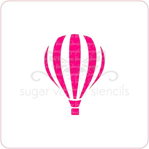 Hot Air Balloon Cupcake Stencil
