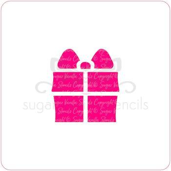 Present Cupcake Stencil