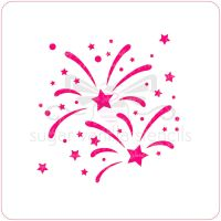 Fireworks Cupcake Stencil