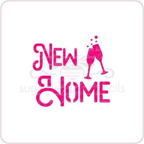 New Home & Champagne Cupcake Stencil