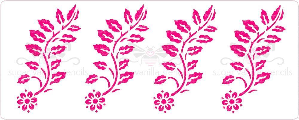 Charming Floral Cake Stencil