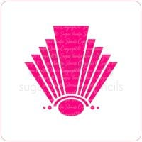 Art Deco Fan Cupcake Stencil