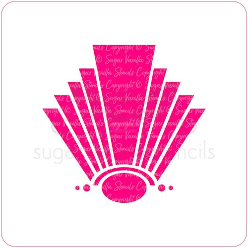 Art Deco Fan Cupcake Stencil