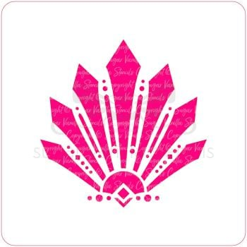 Art Deco Pointed Fan Cupcake Stencil
