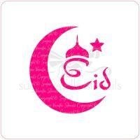 Eid Crescent Cupcake Stencil