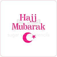 Hajj Mubarak Cupcake Stencil