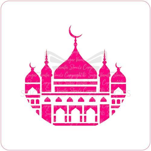 Mosque Cupcake Stencil