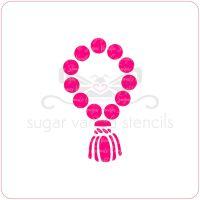 Prayer Beads Cupcake Stencil