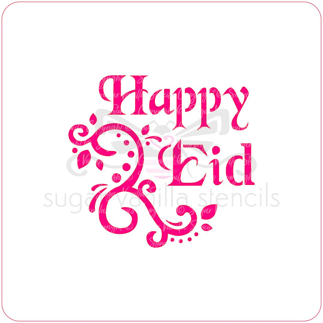 Happy Eid Cupcake Stencil