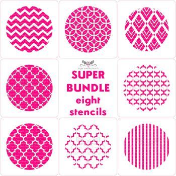 Pattern Cupcake Stencils Super Bundle