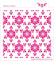 Winter Flower Cookie Stencil