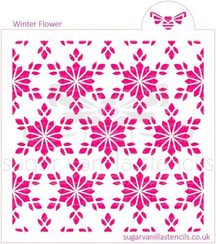Winter Flower Cookie Stencil