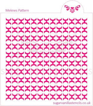 Meknes Pattern Cookie Stencil