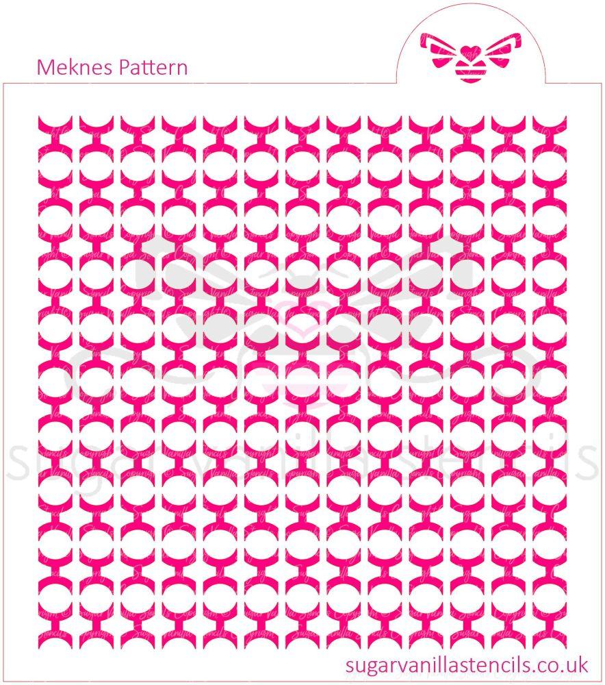 Meknes Pattern Cookie Stencil
