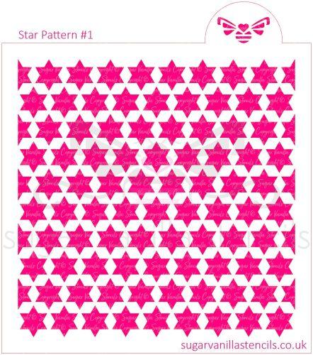 Star Pattern #1 Cookie Stencil