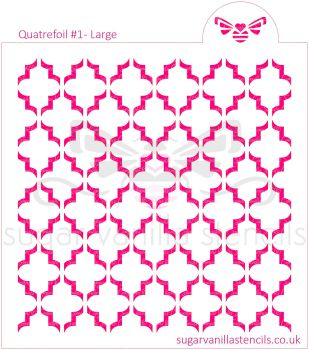 Quatrefoil #1 Cookie Stencil - Large