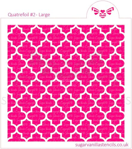 Quatrefoil #2 Cookie Stencil - Large
