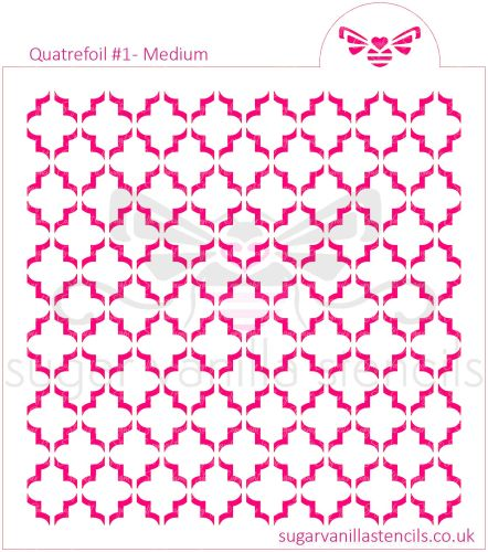 Quatrefoil #1 Cookie Stencil - Medium