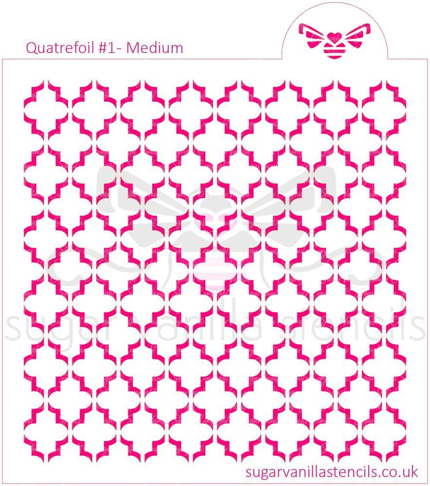 Quatrefoil #1 Cookie Stencil - Medium