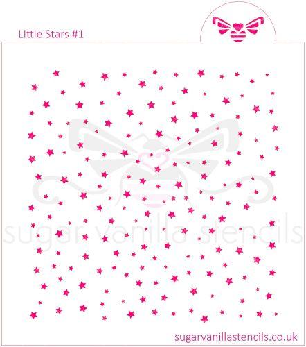 Little Stars #1 Cookie Stencil