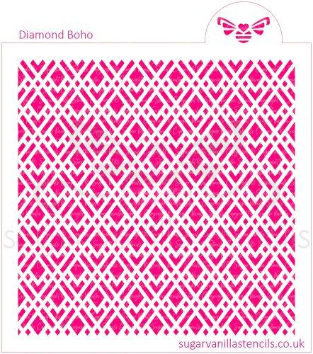 Diamond Boho Cookie Stencil