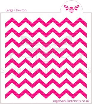 Large Chevron Cookie Stencil