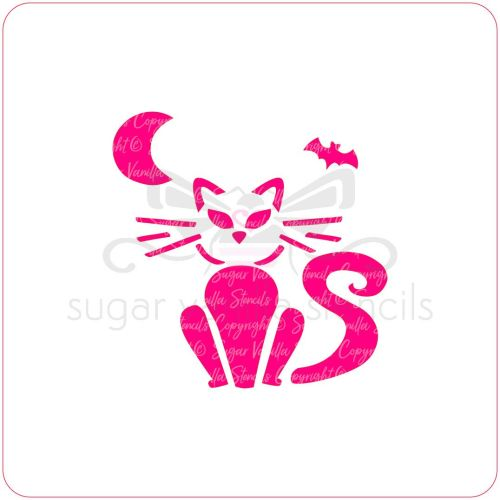 Halloween Cat Cupcake Stencil