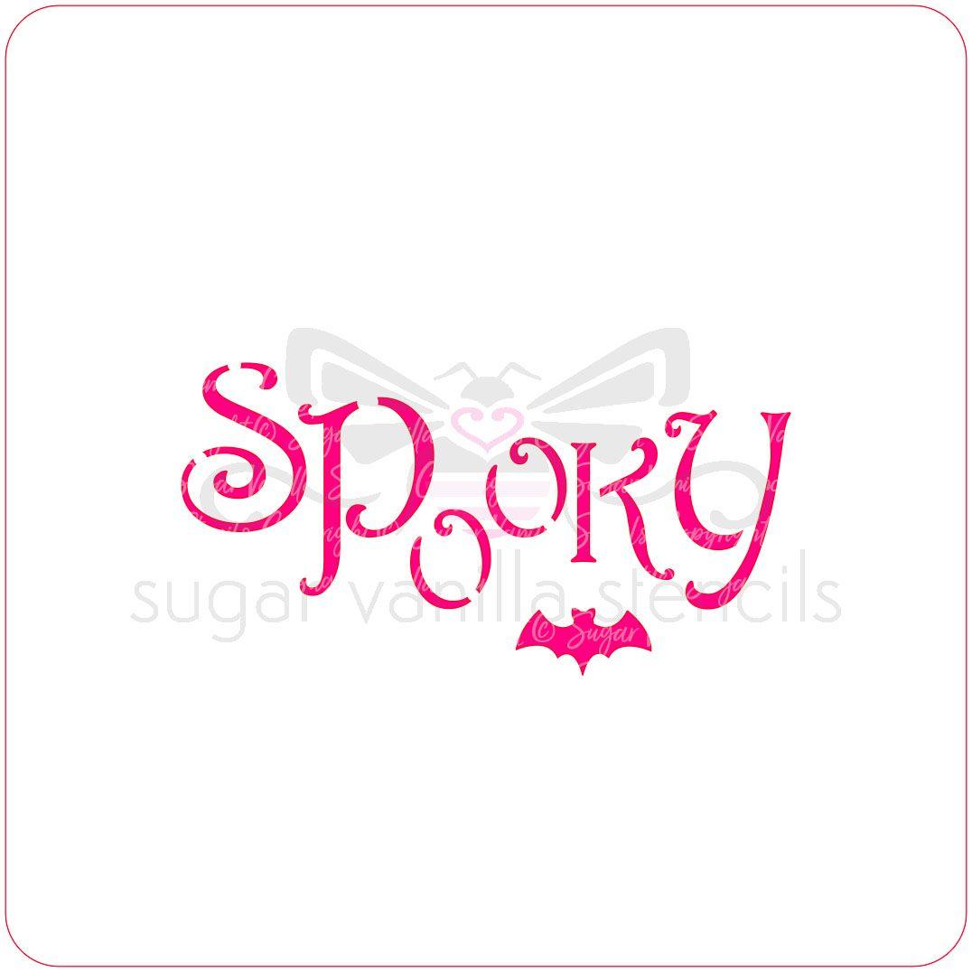 Spooky Cupcake Stencil