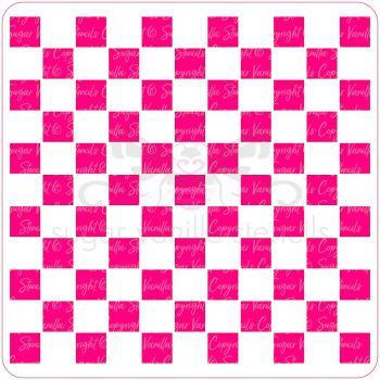Checkerboard Squares (Medium) Cupcake Stencil