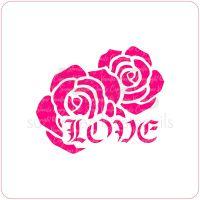Gothic Rose Love Cupcake Stencil