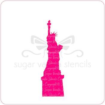 NY Statue of Liberty Cupcake Stencil