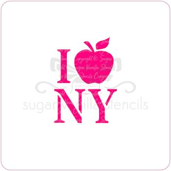 I Love New York Cupcake Stencil
