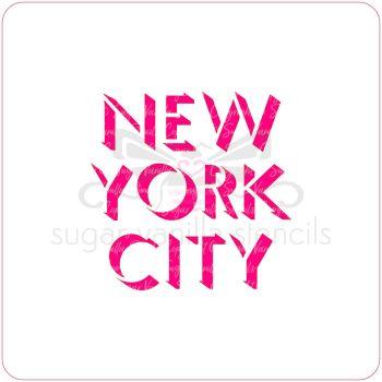 New York City Cupcake Stencil
