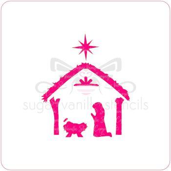 Nativity Cupcake Stencil