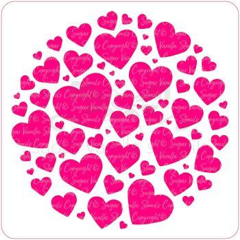 Full Hearts Cupcake Stencil