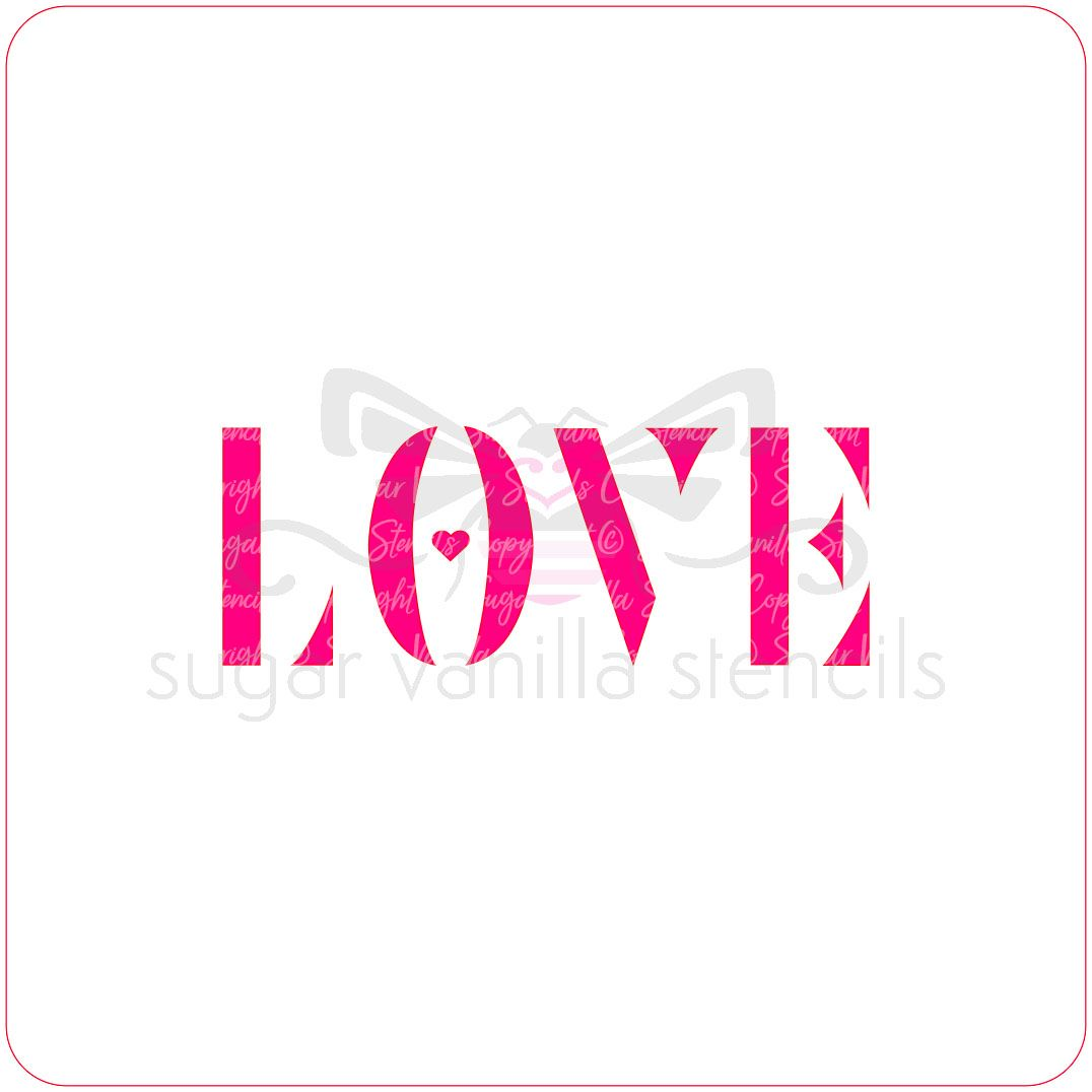 Love Cupcake Stencil