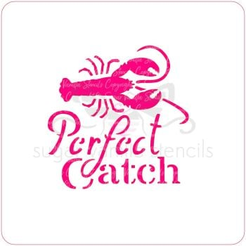 Perfect Catch Cupcake Stencil