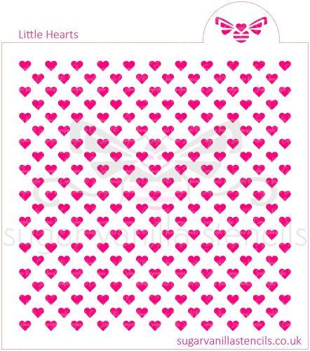 Little Hearts Cookie Stencil