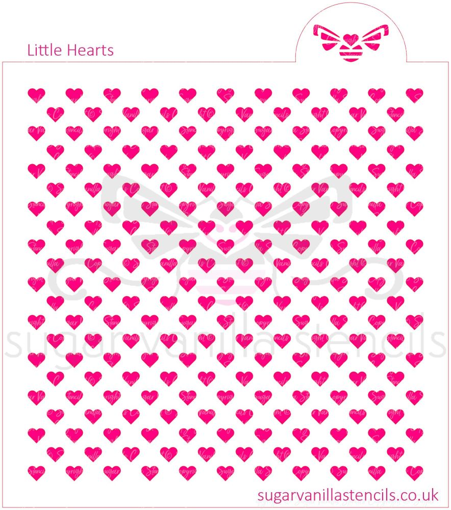 Little Hearts Cookie Stencil