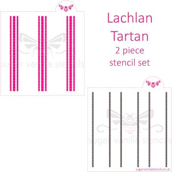 Lachlan Tartan Plaid Cookie Stencil Set (2 piece)