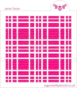 Jamie Tartan Plaid Cookie Stencil Set