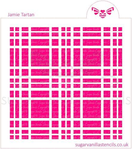 Jamie Tartan Plaid Cookie Stencil Set