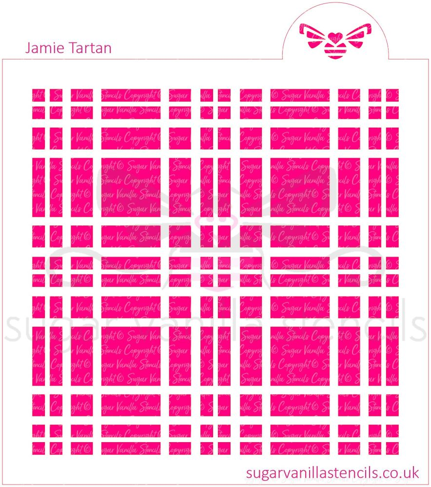 Jamie Tartan Plaid Cookie Stencil